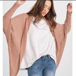 Sweaters - Re-posh blush cardigan, New.